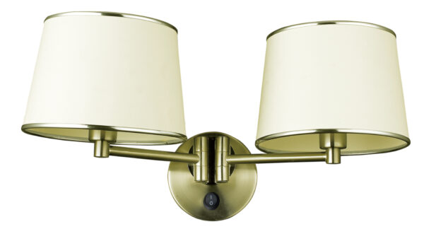 IBIS LAMPA KINKIET 2X40W E14 PATYNA - 22-01309