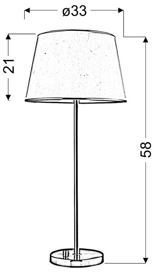 IBIS LAMPA GABINETOWA 1X40W E14 PATYNA - 41-01354