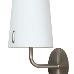 L&H MUSCAT LAMPA KINKIET 1*40W E14 NIKIEL MAT - 21-03662