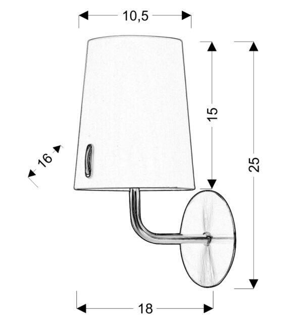 L&H MUSCAT LAMPA KINKIET 1*40W E14 PATYNA - 21-03679