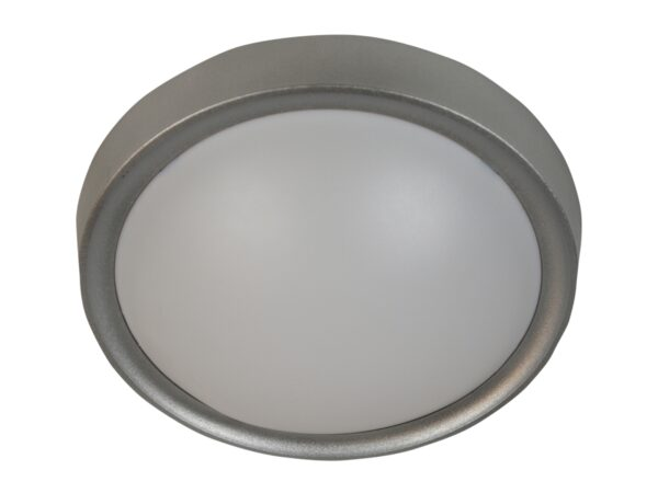 VATAN LAMPA SUFITOWA PLAFON 30 1X11W E27 PLASTIK ENERGO (W KOMPLECIE) SZARA - 13-11438