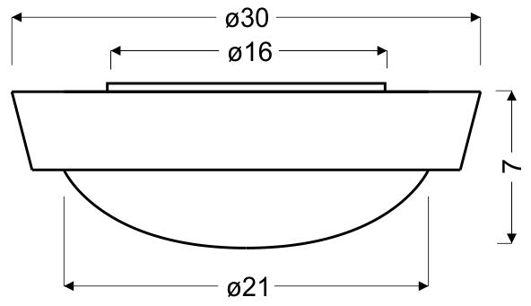 VATAN LAMPA SUFITOWA PLAFON 30 1X11W E27 PLASTIK ENERGO (W KOMPLECIE) BIAŁA - 13-11476