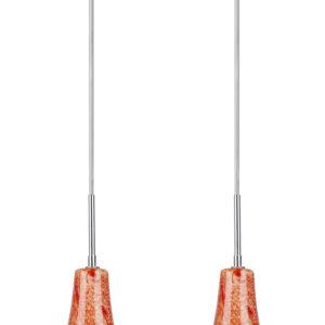 RUFI LAMPA WISZĄCA 2X40 W E14 CHROM/SATYNA NIKIEL  - 32-14651