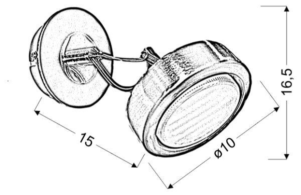 EARTH LAMPA KINKIET 1X9W GX53 ENERGO SATYNA/WENGE - 91-15788