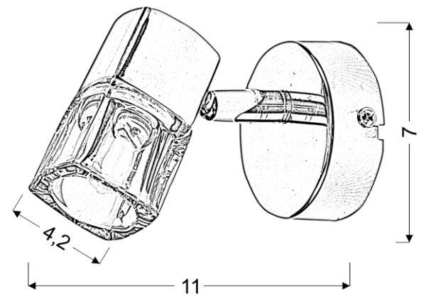 DIAMENT KINKIET1X40W G9 - 91-19229
