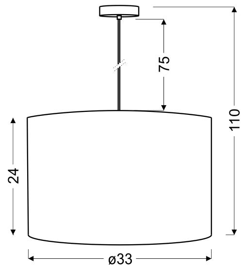 ARABESCA LAMPA WISZĄCA 33X33X24 1X60W E27 KREMOWY (ABAŻUR 77-19441 Z ZAWIESIEM 85-10608) - 31-19526
