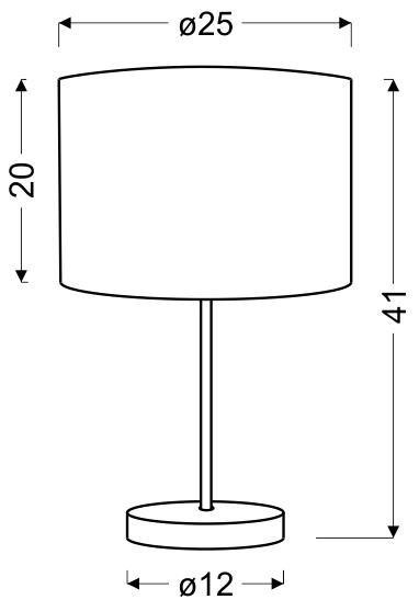 ARABESCA LAMPA GABINETOWA 25X25X20 1X60W E27 BRĄZOWY (ABAŻUR 77-19496, PODSTAWA 87-15849) - 41-19533
