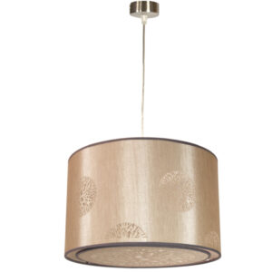 PERLA LAMPA WISZĄCA 40X40X25 1X60W E27 BEŻ (LINKA 85-10608) - 31-19915
