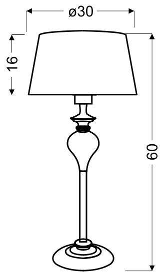 GILLENIA LAMPA GABINETOWA 60CM 1X60W E27 - 41-21406