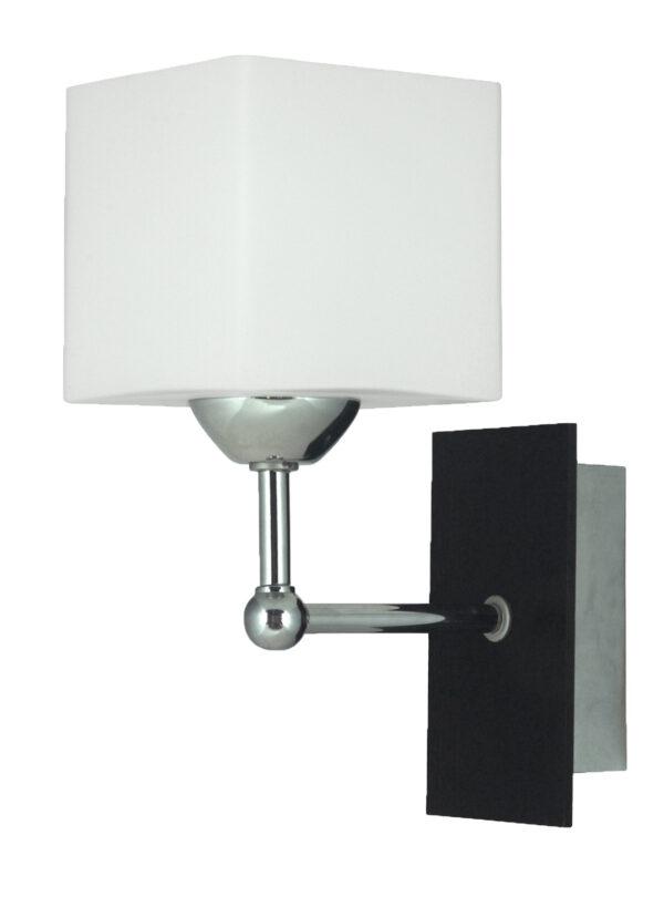 CUBETTO LAMPA KINKIET 1X60 E27 DREWNO+CHROM - 21-24513