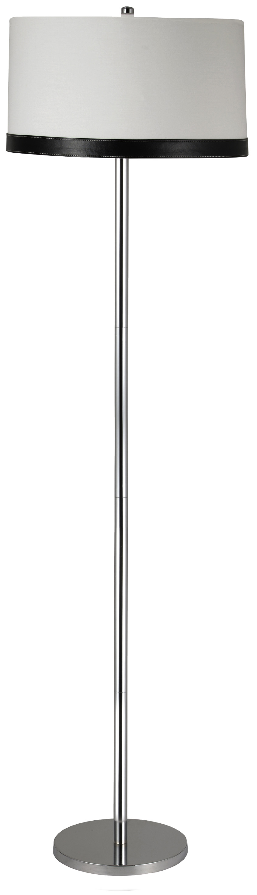 TIDA LAMPA PODŁOGOWA 1X60W E27 CHROM/ABAŻUR PŁÓTNO/SKÓRA - 51-31320