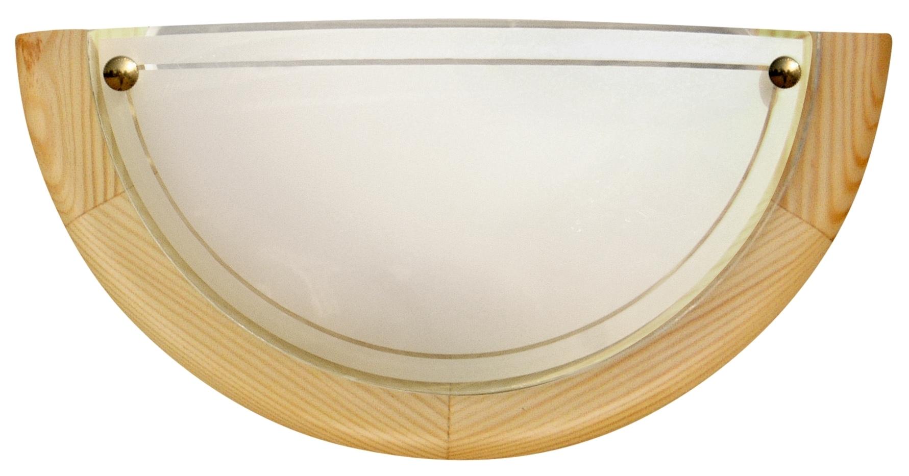 1030 LAMPA SUFITOWA PLAFON1/2 DREWNO STANDARD 1X60W E27 SOSNA - 11-32440