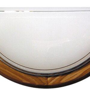 1030 LAMPA SUFITOWA PLAFON1/2 DREWNO STANDARD 1X60W E27 DĄB - 11-32457