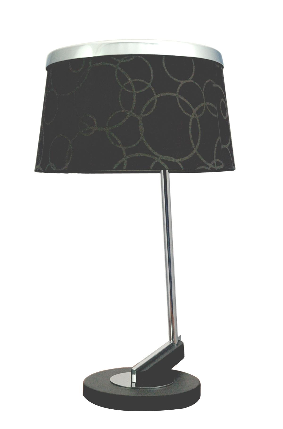 IMPRESJA LAMPA 1*60W E27 CZARNA CHROM - 41-45310