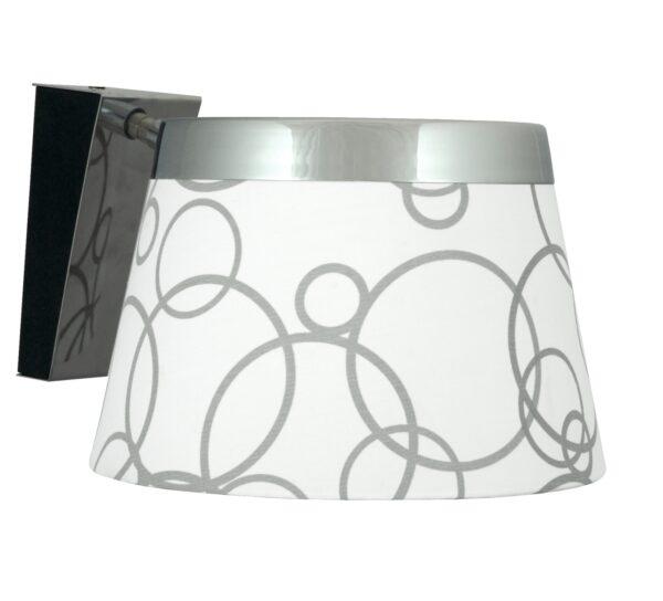 IMPRESJA LAMPA KINKIET 1*60W E27 BIAŁY CHROM - 21-46478