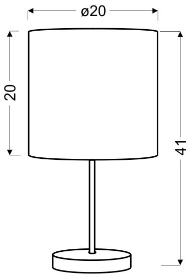 TIMBER LAMPA GABINETOWA 1X60W E27 SOSNA - 41-56712