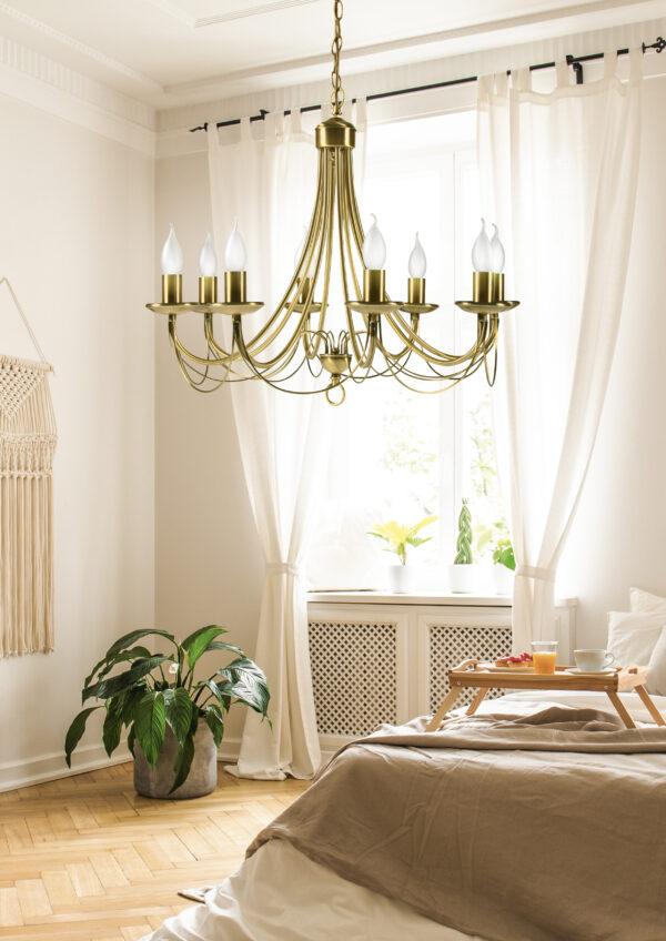 MUZA LAMPA WISZĄCA 8X40W E14 PATYNA - 38-69187