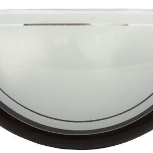 1030 LAMPA SUFITOWA PLAFON 1/2 DREWNO STANDARD 1X60W E27 WENGE - 11-70237