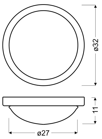 RODA LAMPA SUFITOWA PLAFON 325  E27 2X60W CHROM - 11-74044