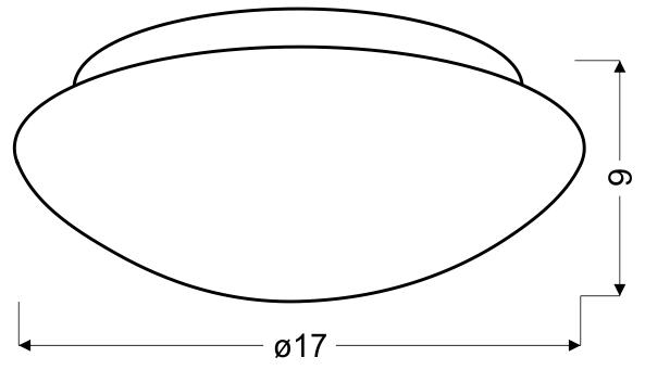 NINA LAMPA SUFITOWA PLAFON BIAŁY 175MM 1X60W E27 - 12-74150