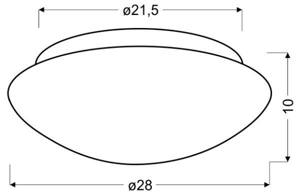 NINA LAMPA SUFITOWA PLAFON BIAŁY 280MM 1X60W E27 - 13-74235