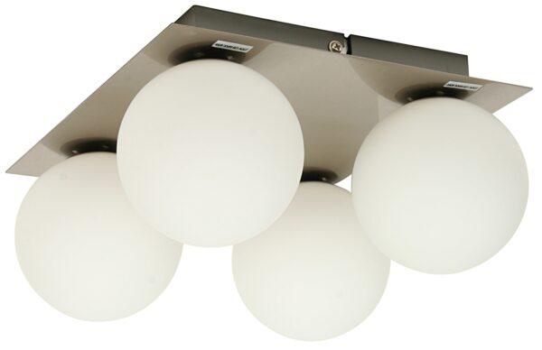 ETIUDA LAMPA SUFITOWA PLAFON POCZWÓRNY NIKIEL MAT 4XG9/40W 230V - 98-82094