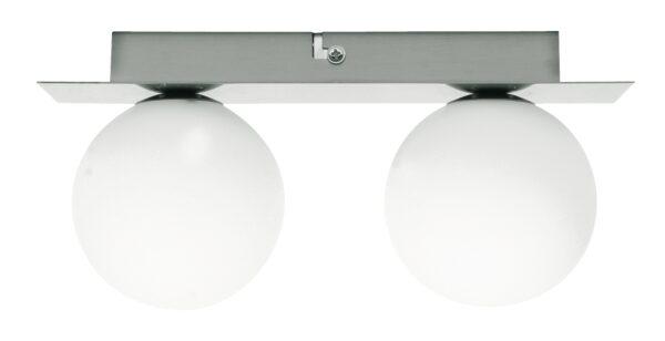 ETIUDA LAMPA SUFITOWA LISTWA PODWÓJNA NIKIEL MAT 2XG9/40W 230V - 92-82100