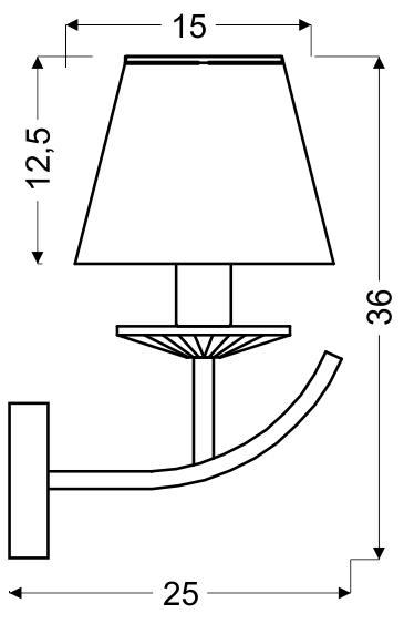 VALENCIA LAMPA KINKIET 1X40W E14 PATYNA 15X36 - 21-84012