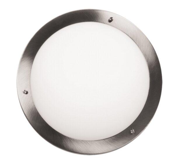 AQUILA LAMPA SUFITOWA PLAFON 32 1X60W E27 SATYNA NIKIEL IP44 - 13-84197
