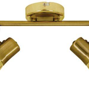 ARENA LAMPA SUFITOWA LISTWA 2*40W R50 E14 ZŁOTO PATYNA - 92-84487