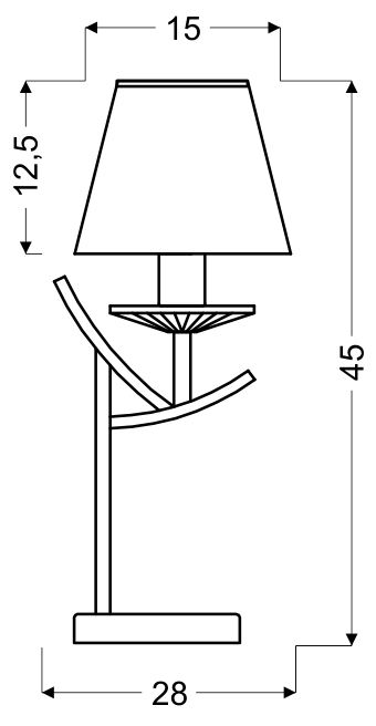 VALENCIA LAMPA 1X40W E14 CHROM H-45 - 41-84609