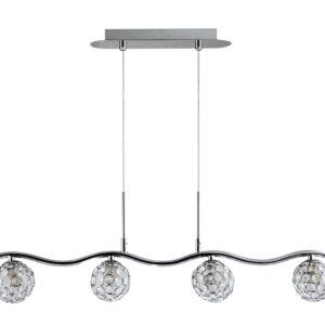 STARLET LAMPA WISZĄCA 4X40W G9 CHROM/TRANSPARENT - 34-85750