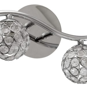 STARLET LAMPA KINKIET 2X40W G9 CHROM/TRANSPARENT - 92-85798
