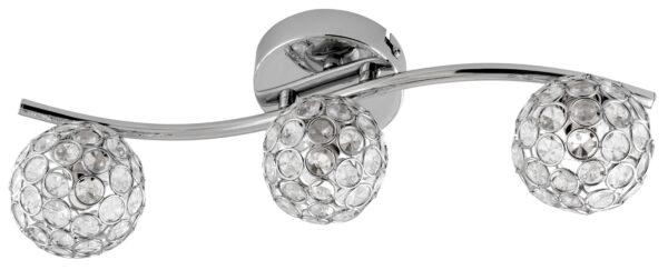 STARLET LAMPA SUFITOWA LISTWA 3X40W G9 CHROM/TRANSPARENT - 93-85934