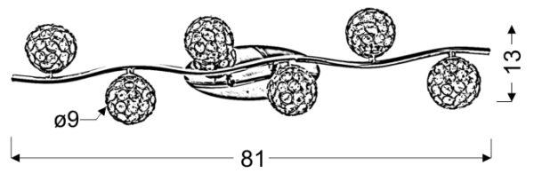 STARLET LAMPA SUFITOWA LISTWA 6X40W G9 CHROM/TRANSPARENT - 96-85941