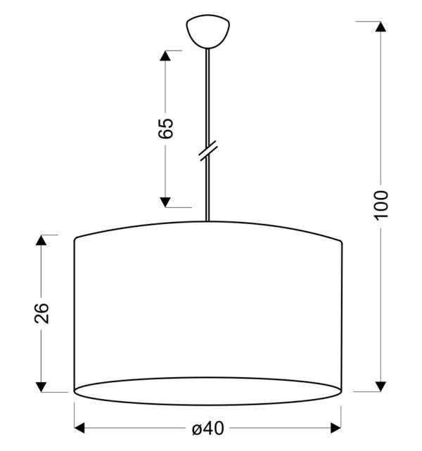 SIMONA 2 LAMPA WISZĄCA 40X120 3X40W E14 CZARNY - 33-87174