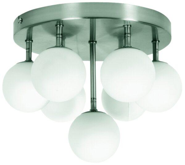 ETIUDA LAMPA SUFITOWA PLAFON 7XG9/40W 230V NIKIEL MAT - 97-89314