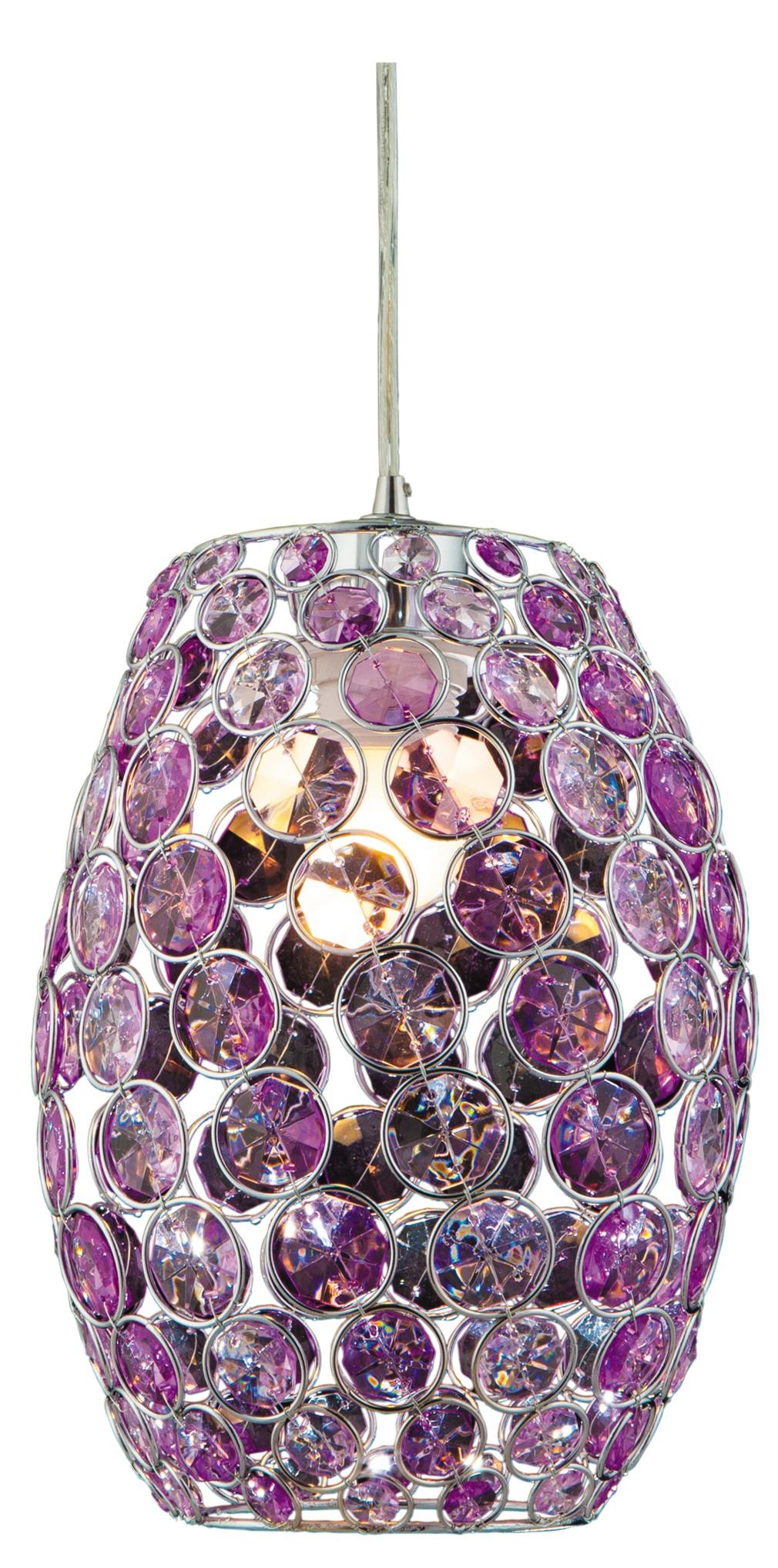 CORN LAMPA WISZĄCA 20 1X60W E27 FIOLET + LINKA 85-10523 - 31-92536