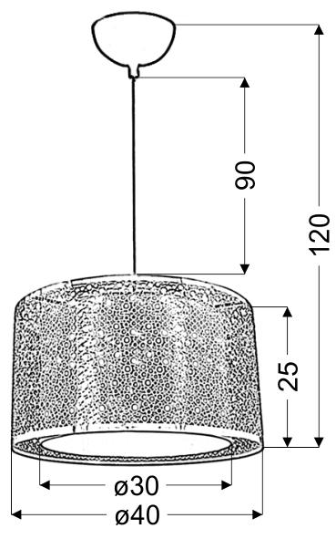 MADRAS LAMPA WISZĄCA 40 1X60W E27 CHROM - 31-92680