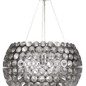ABROS LAMPA WISZĄCA 40 1X60W E27 SREBRNY - 31-94097