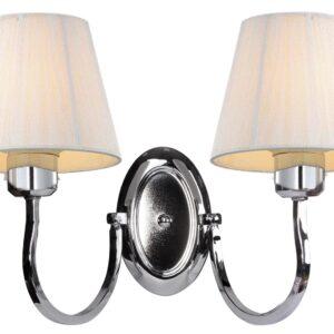 BOSTON LAMPA KINKIET 2X60W E27 BIAŁY - 22-94400