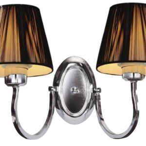 BOSTON LAMPA KINKIET 2X60W E27 CZARNY - 22-94417