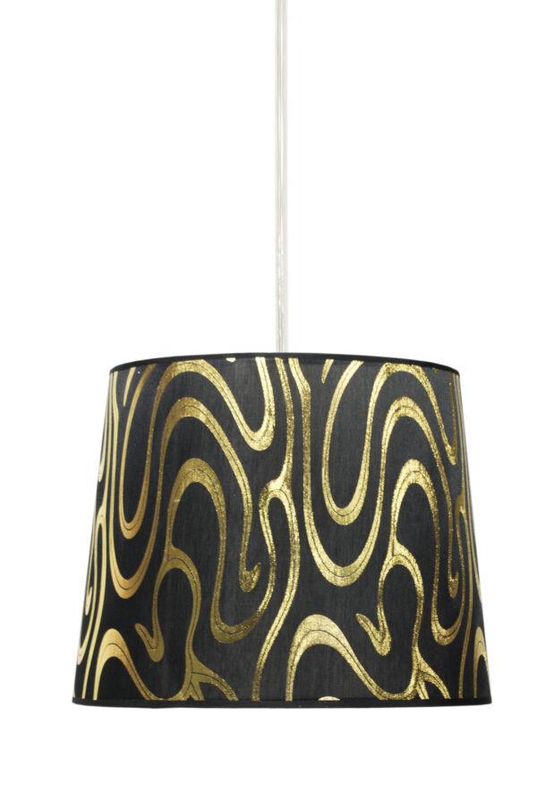 TIGER LAMPA WISZĄCA 26 1X60W E27 CZARNO-ZŁOTY - 31-94448