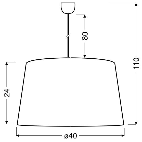 TIGER LAMPA WISZĄCA 40 1X60W E27 CZARNO-ZŁOTY - 31-94455