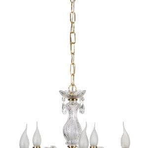 MARIA TERESA LAMPA WISZĄCA 5X40W E14 ZŁOTY - 35-94646