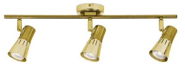 ARENA LAMPA SUFITOWA LISTWA 3*40W R50 E14 ZŁOTO PATYNA - 93-94769