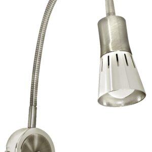 ARENA LAMPA KINKIET WYSIĘGNIK 1*40W R50 E14 NIKIEL MAT - 91-94776