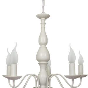 BELLAGIO LAMPA WISZĄCA 5X40W E14 KREMOWY - 35-96503