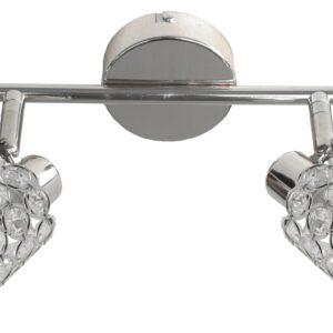 YORK LAMPA SUFITOWA LISTWA 2X40W G9 CHROM - 92-97395