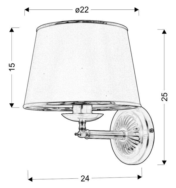 GRAND LAMPA KINKIET 1X40W E14 PATYNA - 21-99337
